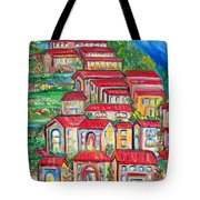 Italian Village On A Hill Tote Bag