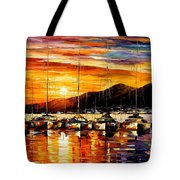 Italy - Naples Harbor- Vesuvius Tote Bag