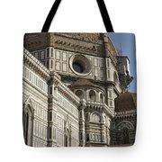 Italy, Florence, Facade Of Duomo Santa Tote Bag