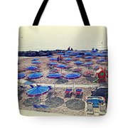 Italy, Sanremo, The Beach. Tote Bag