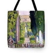 Italy Tivoli Vintage Travel Poster Restored Tote Bag