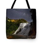 Ithaca Falls By Moonlight Tote Bag