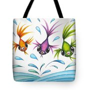 It's A Fun World Out There Tote Bag
