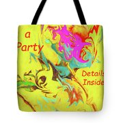 It's A Party Abstract Tote Bag