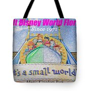 It's A Small World Poster Art Tote Bag