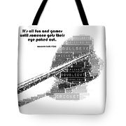 It's All Fun And Games Dart Tote Bag