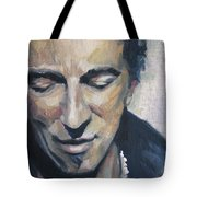 It's Boss Time II - Bruce Springsteen Portrait Tote Bag