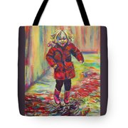 It's Raining, It's Pouring Tote Bag