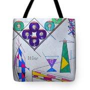 It's Wine O'clock Text Tote Bag