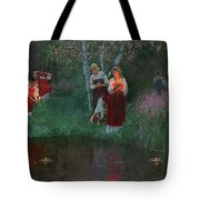 Ivan Kupala. Fortunetelling For Wreaths. Tote Bag