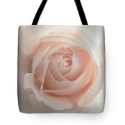 Ivory Peach Pastel Rose Flower Tote Bag
