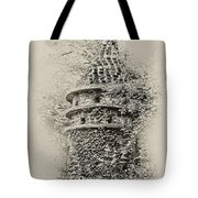 Ivy Covered Castle In The Woods Tote Bag