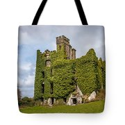 Ivy Covered Ruined Castle Ireland Tote Bag