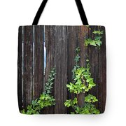 Ivy On Fence Tote Bag