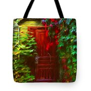Ivy Surrounded Old Outhouse Tote Bag