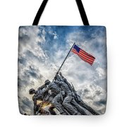 Iwo Jima Memorial Tote Bag by Susan Candelario