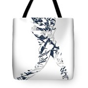J D Martinez Detroit Tigers Pixel Art 3 Tote Bag