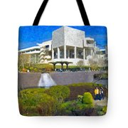 J. Paul Getty Museum Central Garden Panorama Tote Bag