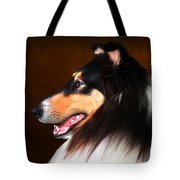 Black Jack- Collie Tote Bag