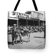 Jack Hendrickson With Pet Burro Number 2 Helldorado Days Parade Tombstone Arizona 1980 Tote Bag