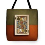 Jack Of Spades In Wood Tote Bag