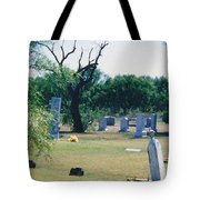 Jack Rabbit In Cementery Tote Bag