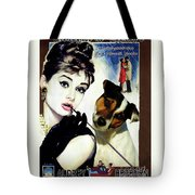 Jack Russell Terrier Art Canvas Print - Breakfast At Tiffany Movie Poster Tote Bag