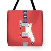 60's Electric Guitar - Red Tote Bag