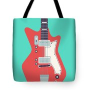60's Electric Guitar - Teal Tote Bag