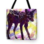 Jackal Children Watercolor Animal  Tote Bag