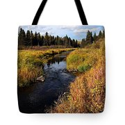 Jackfish Creek In Autumn Tote Bag