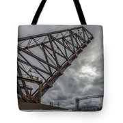 Jackknife Bridge To The Clouds Tote Bag by Lon Dittrick