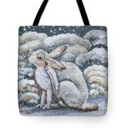 Jackrabbit And Horned Larks Tote Bag