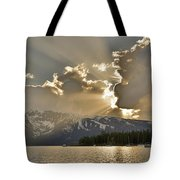 Jackson Lake Sunset View Tote Bag
