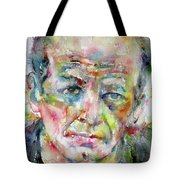 Jackson Pollock - Watercolor Portrait.3 Tote Bag