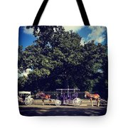 Jackson Square Carriages Tote Bag