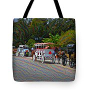 Jackson Square Horse And Buggies Tote Bag