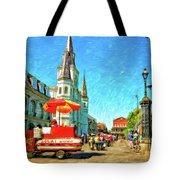 Jackson Square Oil Tote Bag by Steve Harrington