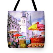 Jackson Square Scene - Painted - Nola Tote Bag