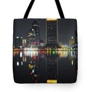 Jacksonville Black Night Lights Tote Bag