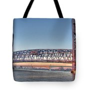 Jacksonville's Blue Bridge At Sunrise Tote Bag