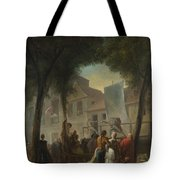 Jacques De Saint Aubin   A Street Show In Paris Tote Bag
