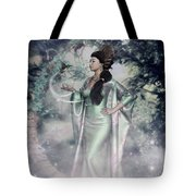 Jade Green Empress Tote Bag