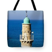 Jaffa, The Turret Of The El Baher Mosque Tote Bag