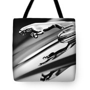 Jaguar Car Hood Ornament Black And White Tote Bag