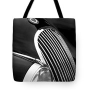 Jaguar Grille Black And White Tote Bag