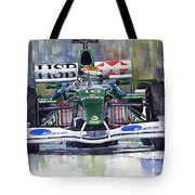 Jaguar R3 Cosworth F1 2002 Eddie Irvine Tote Bag