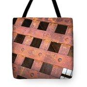 Rusty Jailhouse Door Tote Bag