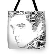 Jailhouse Rock Elvis Wordart Tote Bag