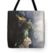 Jake And The Ancestors-pet Portrait Tote Bag